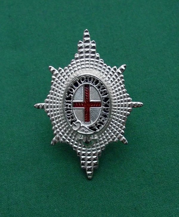 Coldstream Guards Silvered Forage Cap Badge
