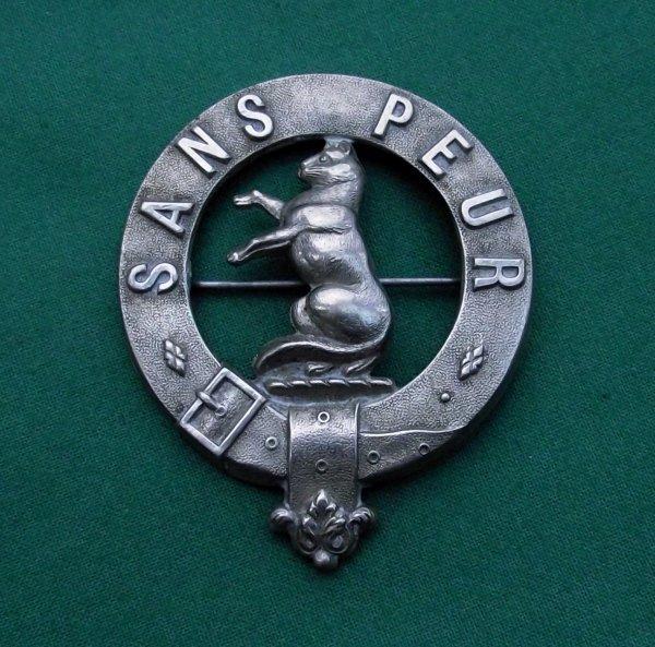 Scarce 5th Battalion Seaforth Highlanders Cap Badge
