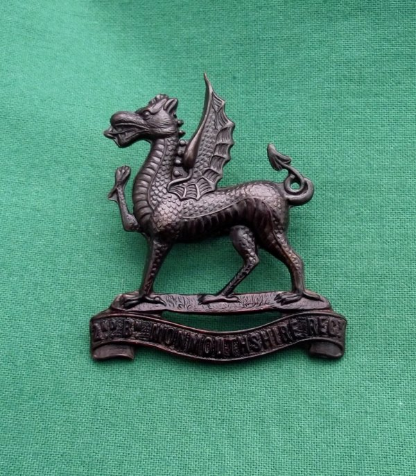 Post 1908 2nd Bn monmouthshire Regiment - OSD Cap Badge