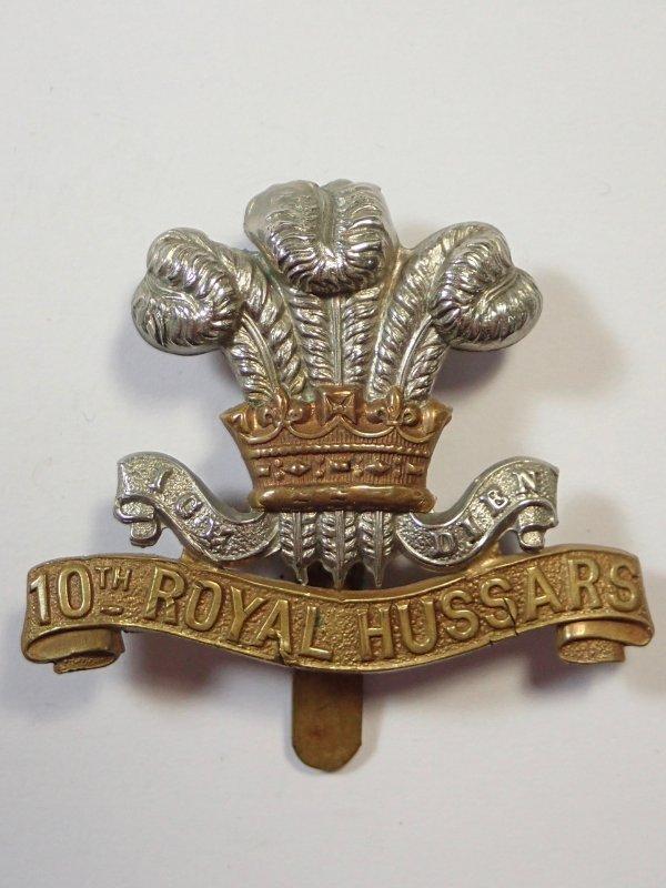 10th Royal Hussars WW1 Cap Badge.