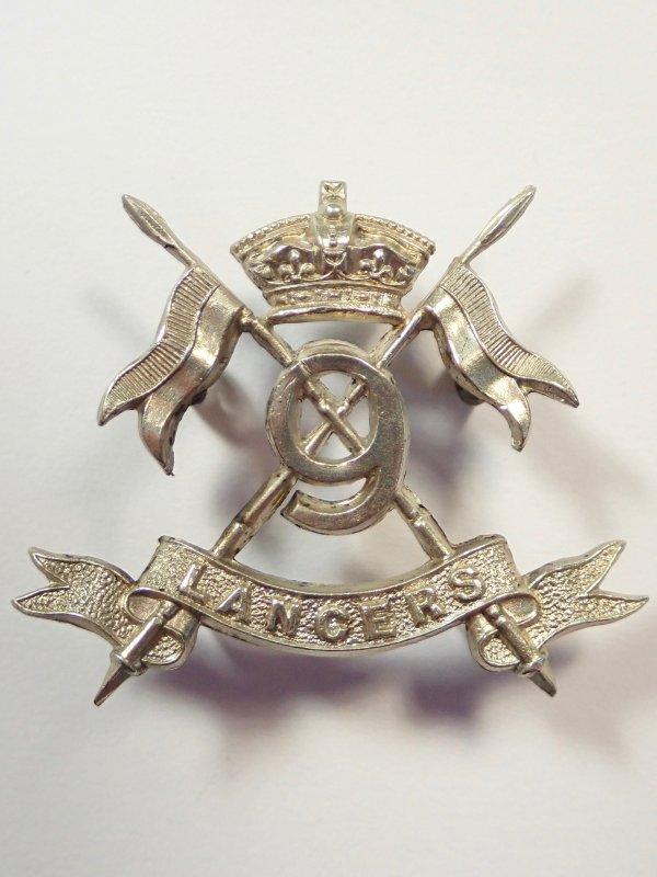 9th Lancers Victorian Collar Badge.