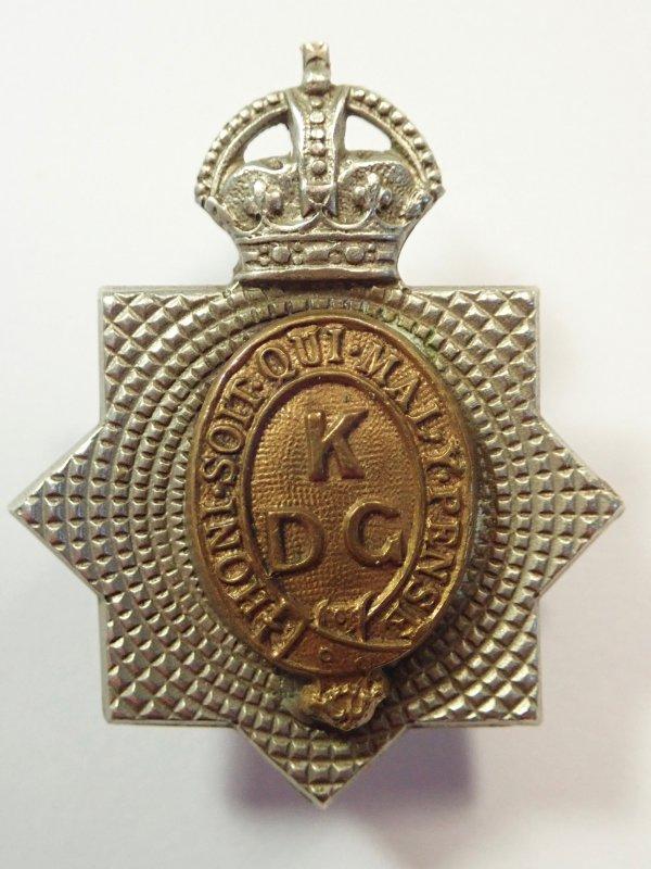 Kings Dragoon Guards (1915-37) Collar Badge.