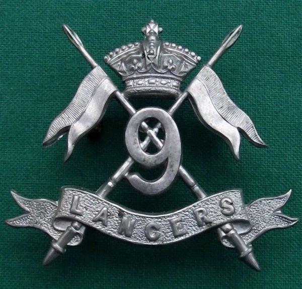 100% Genuine Victorian 9th Lancers QVC Cap Badge