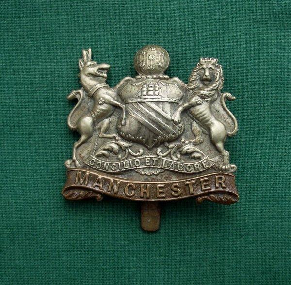 Scarce Manchester Regiment Cap Badge WW1 Service Battalion