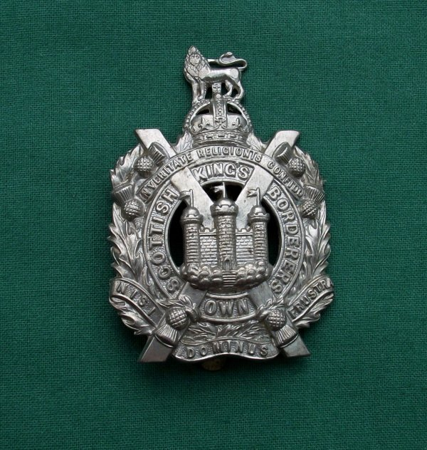 King's Own Scottish Borderers slidered Pagri Badge