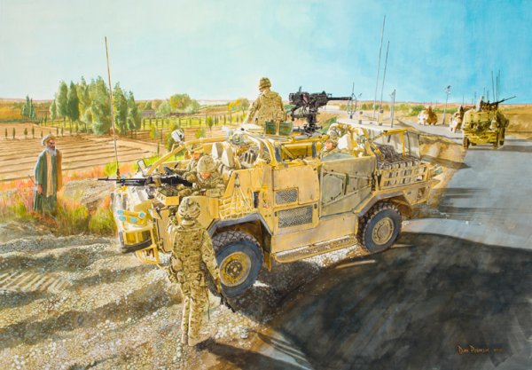 A3 print of painting called Jackal Patrol signed by the artist
