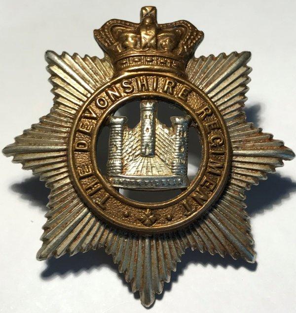 Victorian Devonshire Regt Cap Badge.