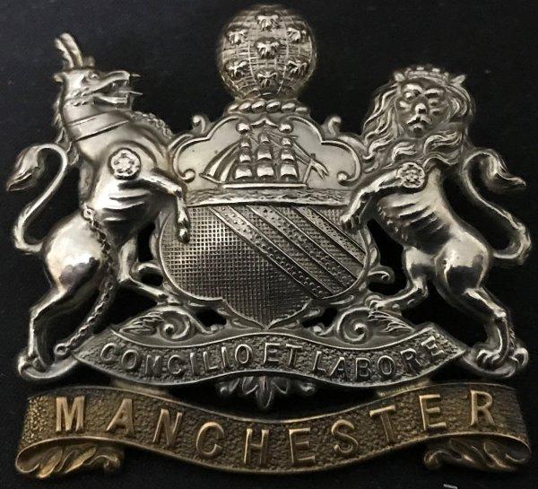 Pre 1903 Manchester Regt Cap Badge. Lugged Version