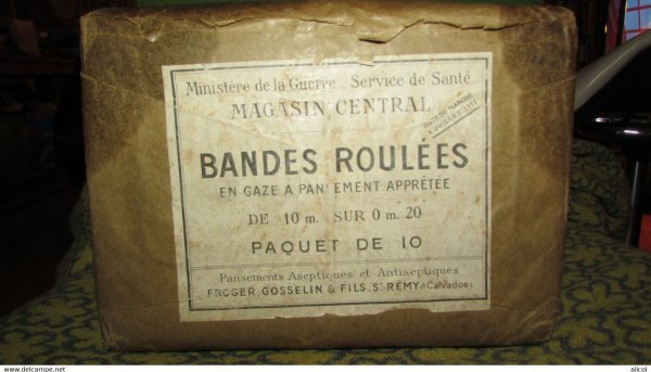 10 WW2 French Army Bandages Pack - Unopened 1932 Dated