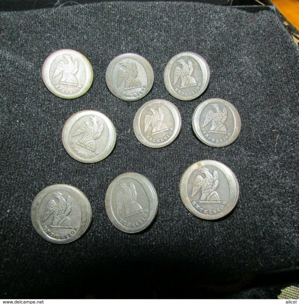 Beauitiful 9 Non Dug War 1812 NY Militaia Excelsior Buttons
