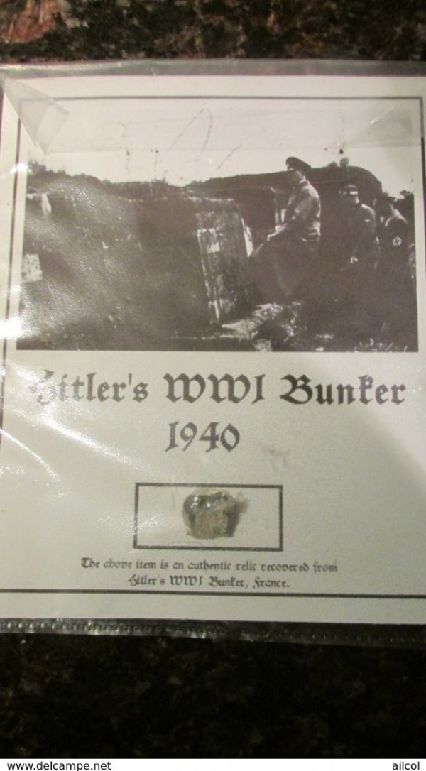 Piece of Hitler's WW1 Bunker