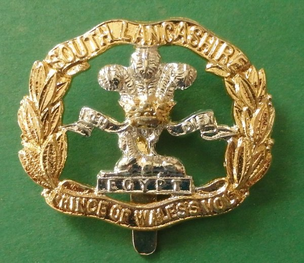 South Lancashire Regiment (Prince of Wales's Volunteers) Staybrite Cap Badge