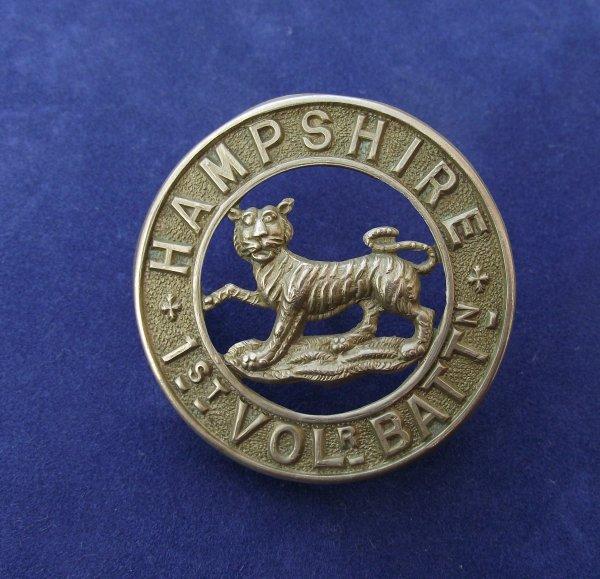1st Volunteer Bn Hampshire Regiment Helmet Plate Center