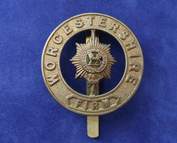 Genuine Worcestershire Regiment, Slidered Pagri Badge