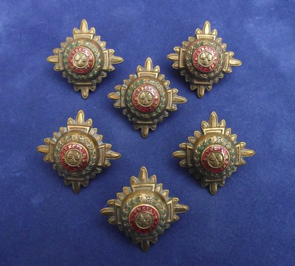 set of 6 rank stars