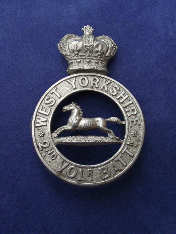 2nd Volunteer Bn West Yorkshire Regiment Victorian Glengarry Badge