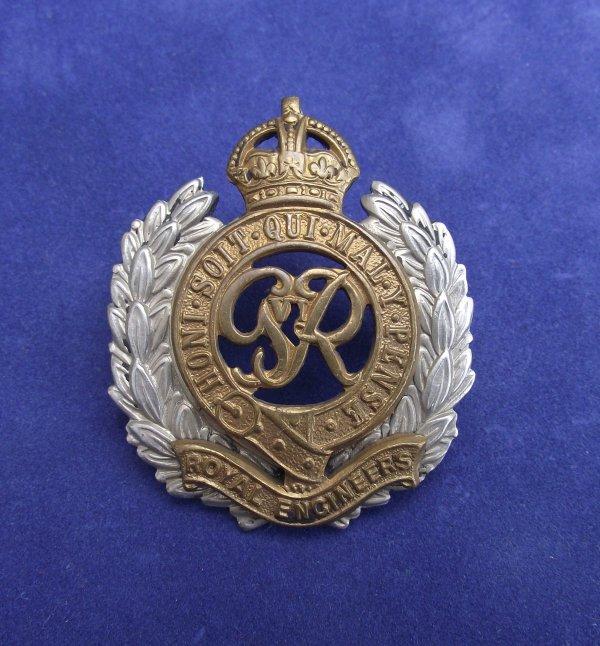 Genuine Royal Engineers GviR Cap Badge