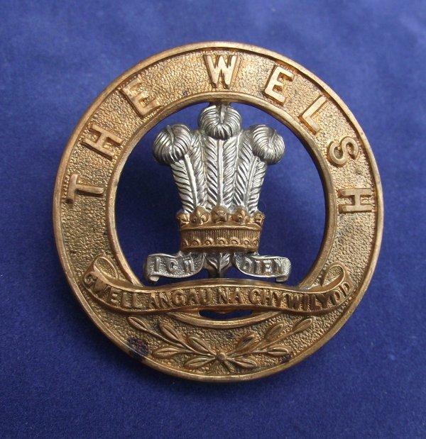 The Welsh Regiment, Helmet Plate Center