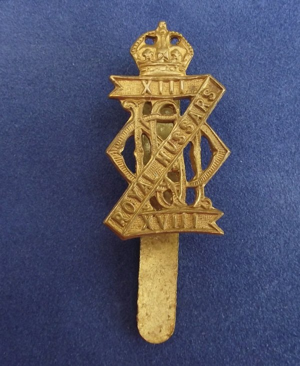 13th-18th Royal hussars -Queen Mary's own cap badge