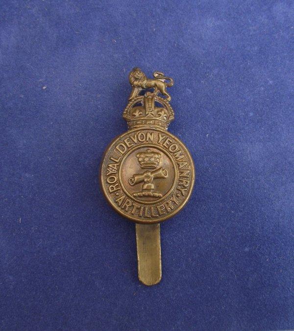 Genuine Royal Devon Yeomanry 'Artillery' Cap Badge