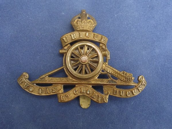 Royal Artillery Applied Wheel Pattern cap badge
