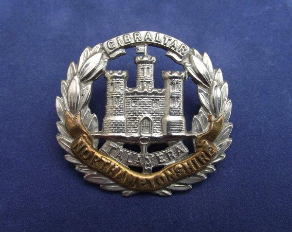 Victorian Northamptonshire Regiment 'Regimental Castle' ORs Pattern Cap Badge