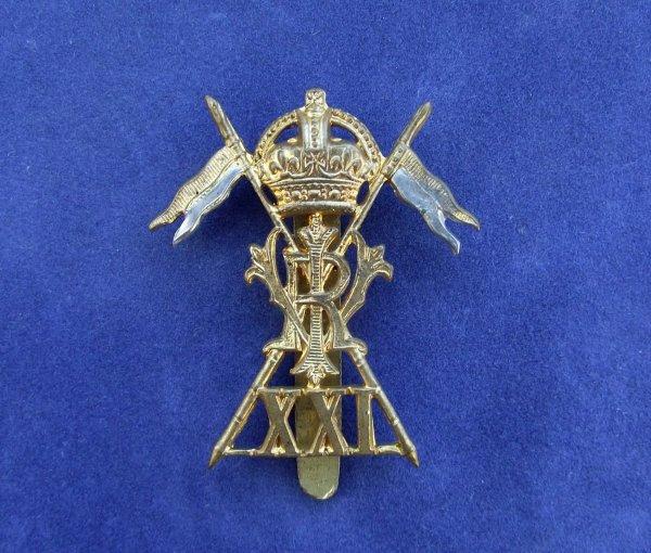 WW1 21st Lancers Cap Badge