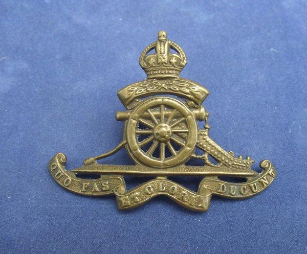 Royal Artillery 'Territorial' Pattern cap badge - Lugged
