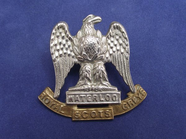 2nd Dragoons 'Royal Scots Greys' Cap Badge - Lugged