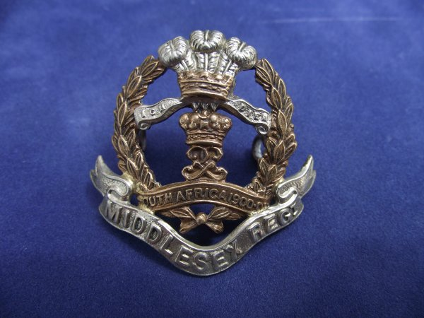 7th, 8th & 9th Battalions Middlesex Regiment Cap Badge