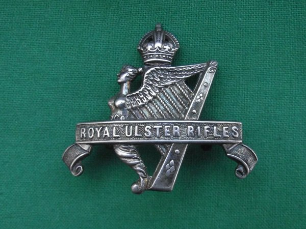 Rare WW2 Royal Ulster Rifles 'AIRBORNE' Officers beret badge