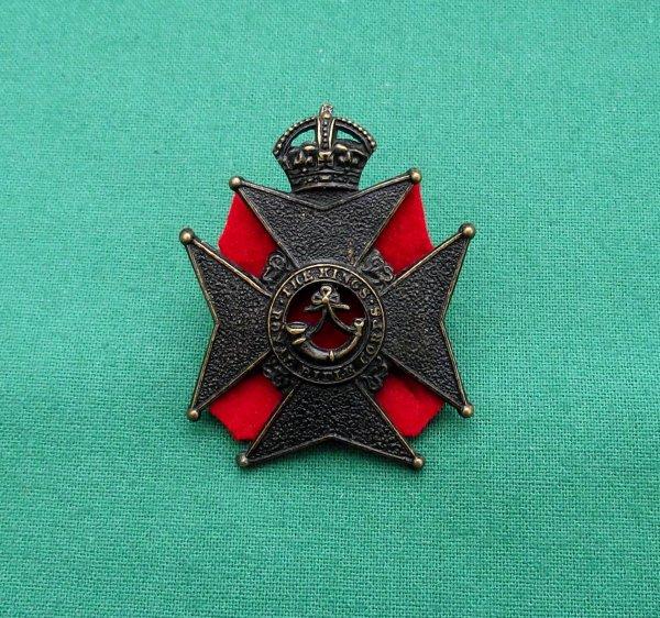 Pre 1905 King's Royal Rifle Corps 'Militia' Cap Badge