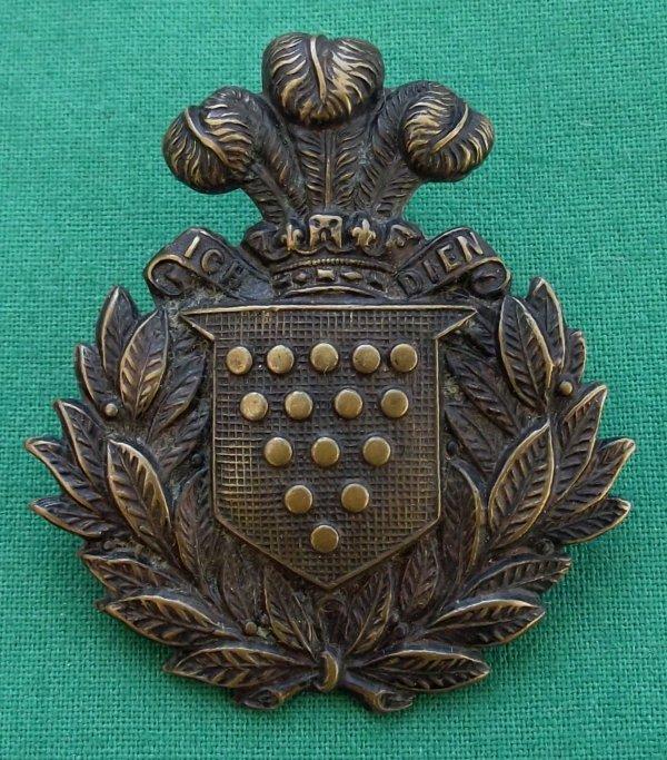 Pre 1908 1st Volunteer Battalion Cornwall Light Infantry Field Service Cap Badge