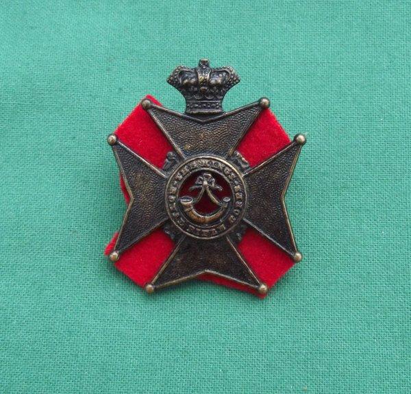 Victorian King's Royal Rifle Corps 'Militia' Cap Badge
