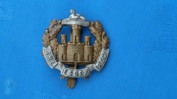 The Essex Regiment cap badge.