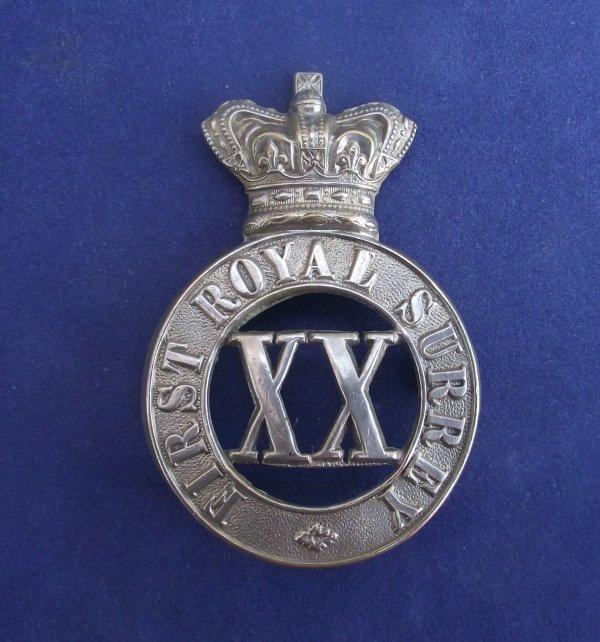 First Royal Surrey Militia Glengarry Badge