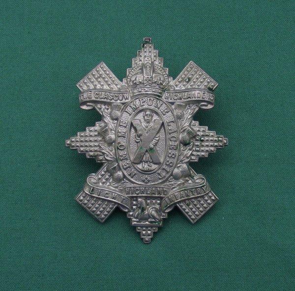 Genuine, 1st Battalion, Glasgow Highlanders, HLI 'Territorial Force' Cap Badge