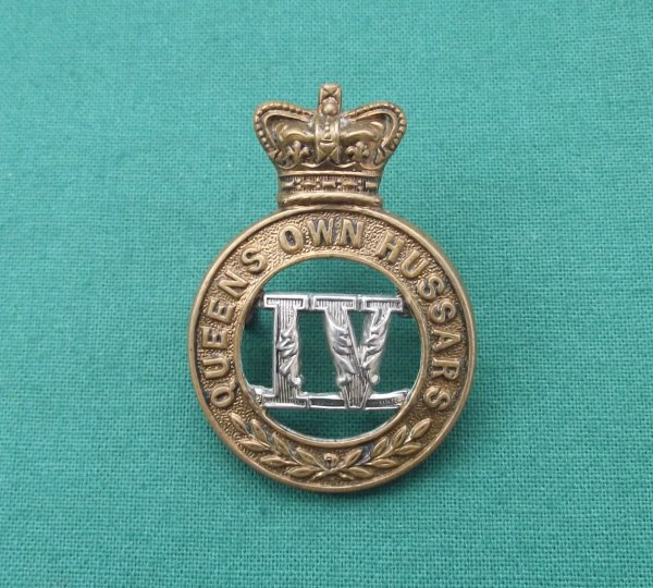 Victorian 4th Queen's Own Hussars QVC Cap Badge